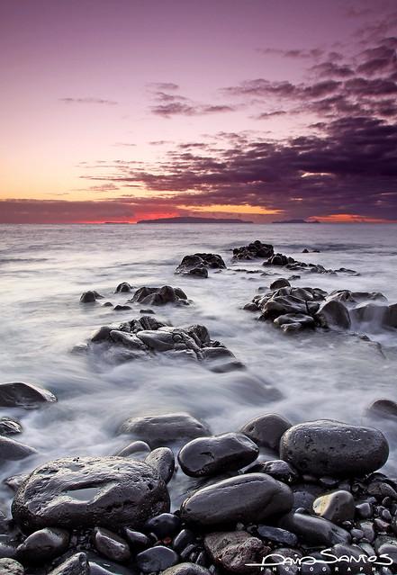 Sky, Rocks And Sea