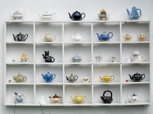 Teapots at the Tea Shop at the Grand Western Canal Country Park in Tiverton | by pigpogm