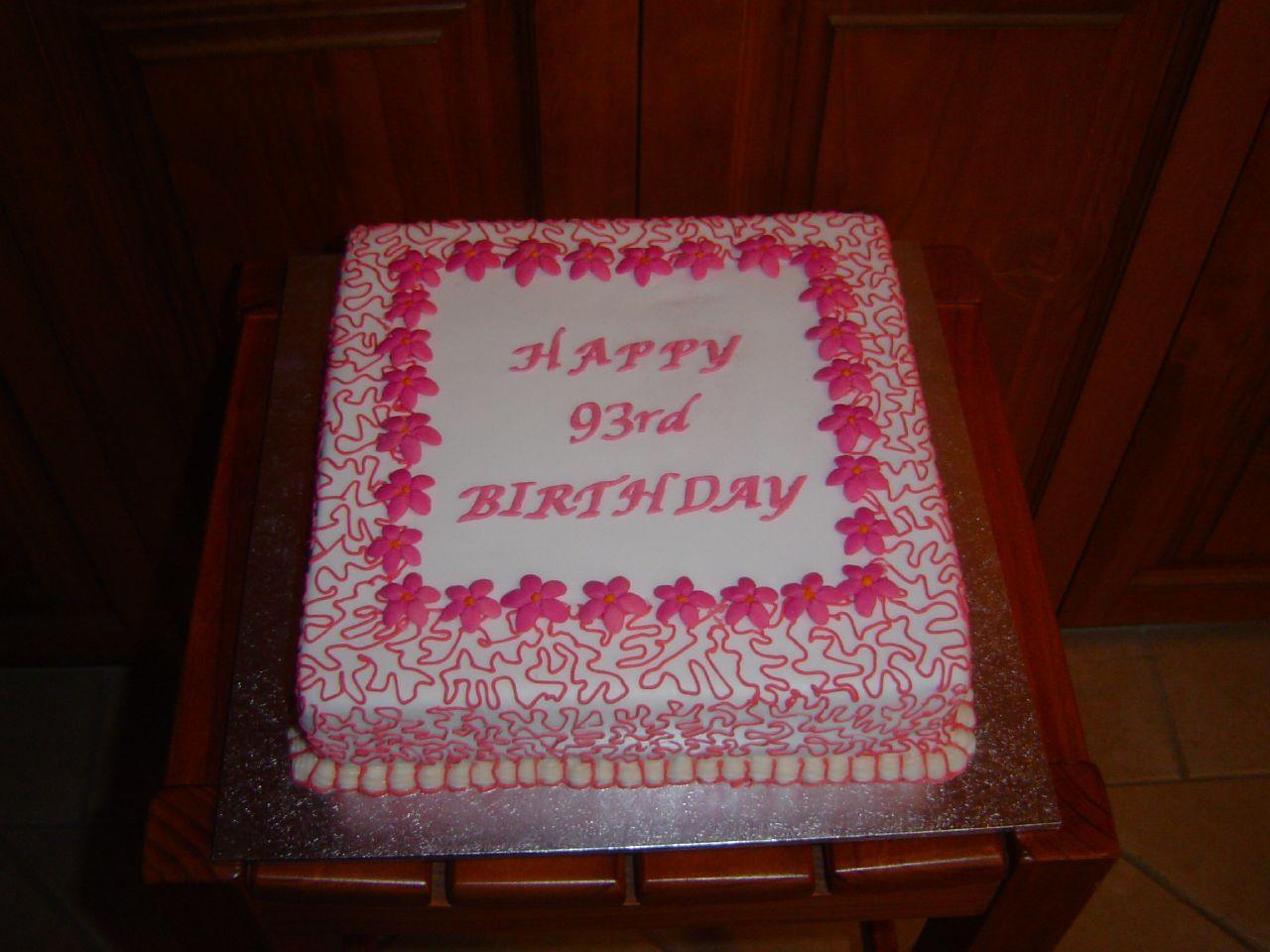Grandma's birthday cake