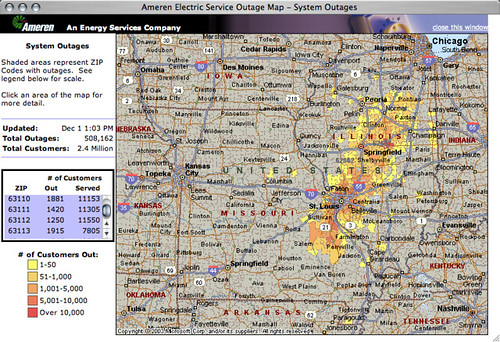 Ameren Ue Outage Map 500 000 Customers Without Power Flickr