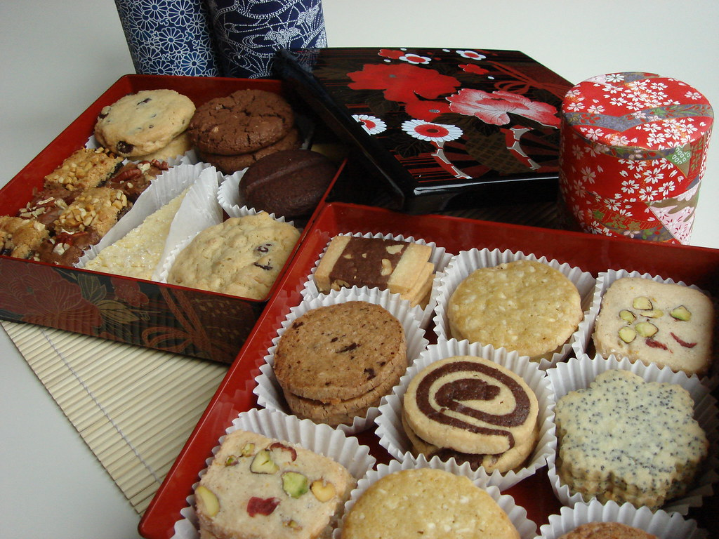 Christmas Cookies Box.Assorted Christmas Cookies In Japanese Multi Tiered Box Flickr