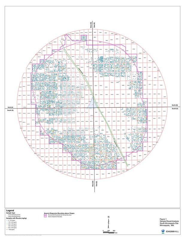 Arsenic Dispersion Boundary Map