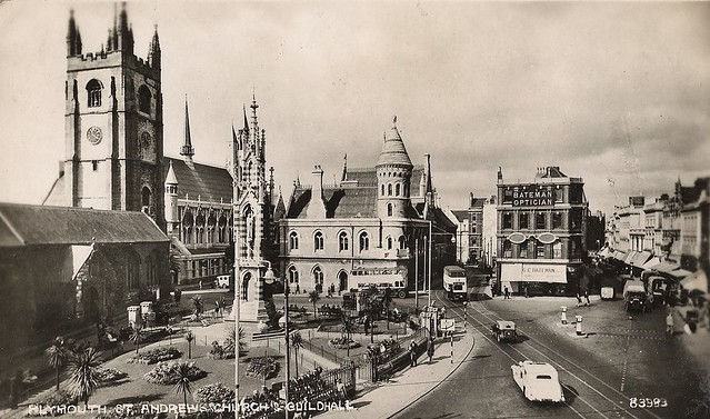 Pre-war Plymouth city centre