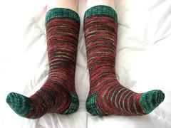 candy cane knee socks | by madelinetosh