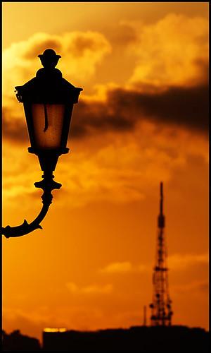sunset italy rome roma bravo italia tramonto streetlamp magical antenna lampione pincio montemario supershot valerioi didinto flickrdiamond excapture diamondexcapture