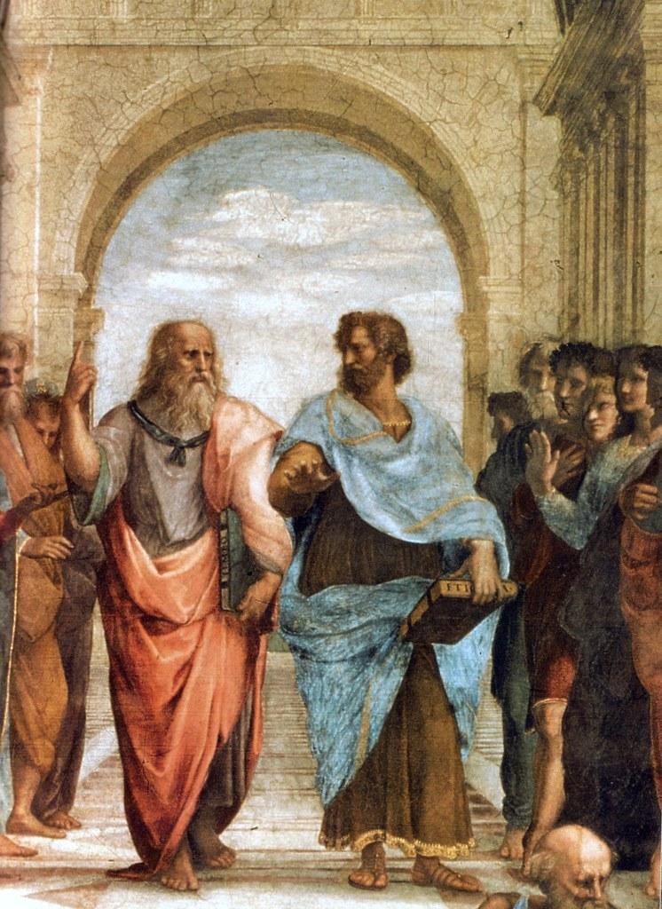 Raffael Die Schule Von Athen Ausschnitt Mit Plato Und Ar