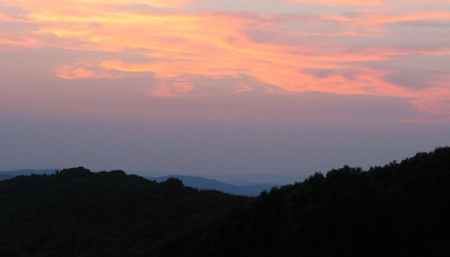 sunset cloud sun mist mountain sol virginia haze dusk hill blueridgeparkway blueridge rockyknob theparadigmshifter