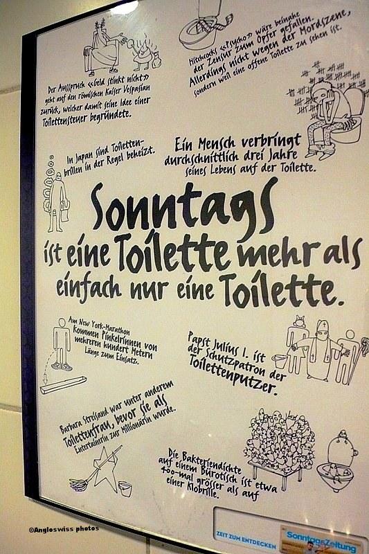 Poster seen in toilet, Bear Pit, Bern