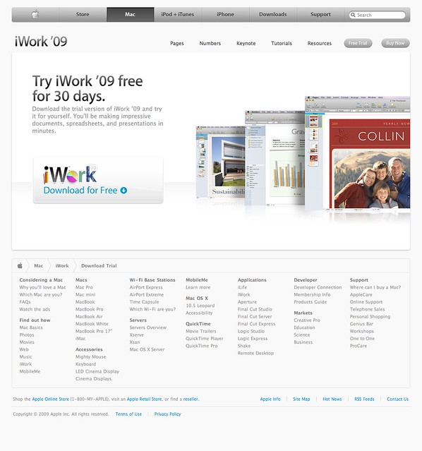 Apple - iWork - Download a 30-day trial of iWork '09  | Flickr