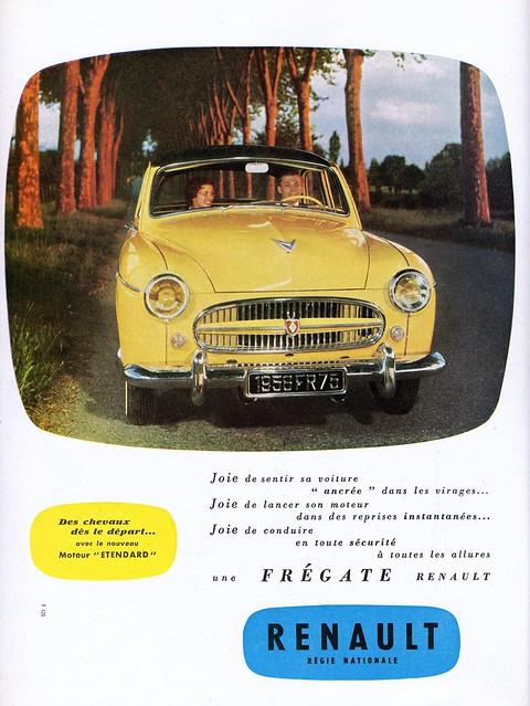 Pub RENAULT Frégate 1956