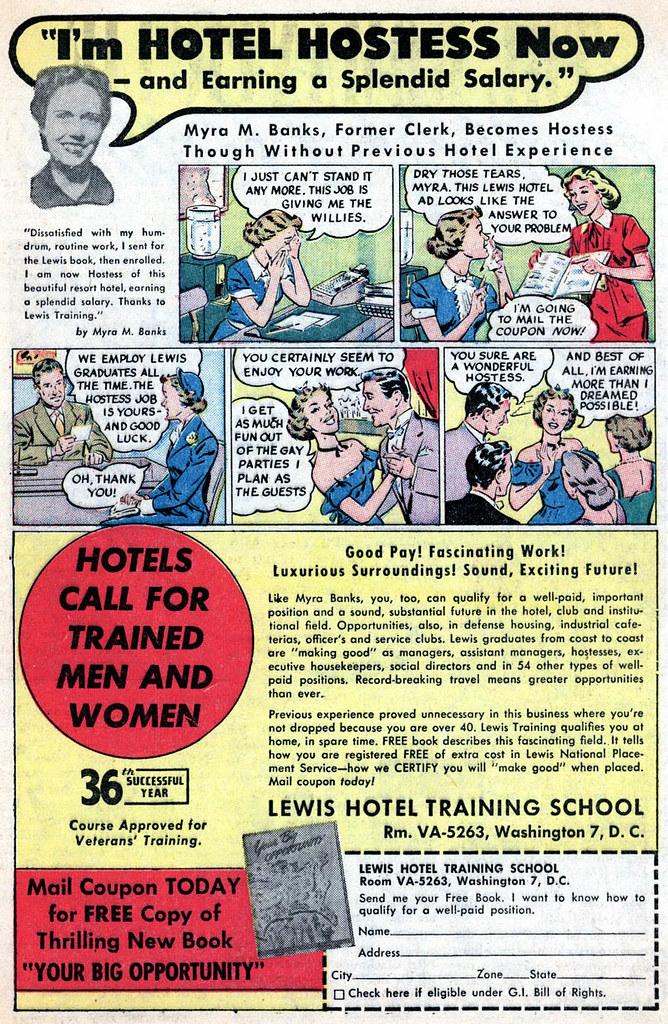 My Own Romance #20 - Hotel Hostess (Jan 1952)   Sleestak