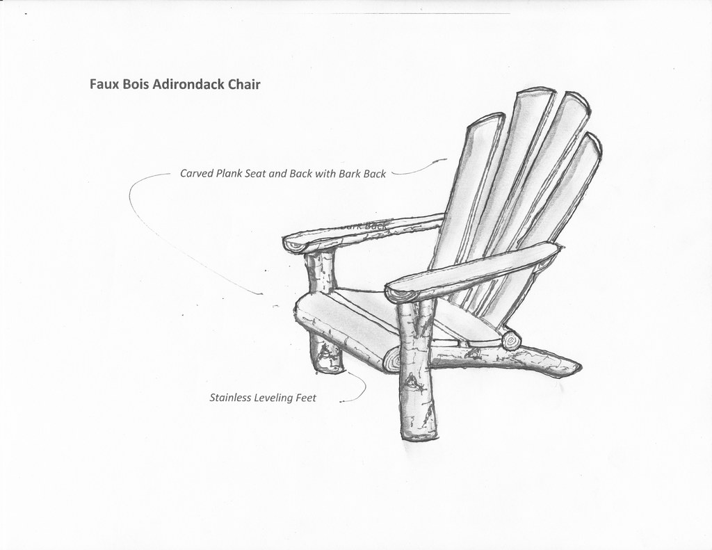 adirondack chair sketch   Ross Yedinak   Flickr