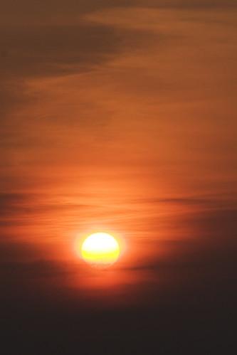sunset sky orange sun black yellow clouds sunrise