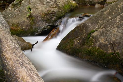 longexposure water flow nc log rocks northcarolina current naturephotography southmountainsstatepark burkecounty jacobsforkriver davidhopkinsphotography ncpedia