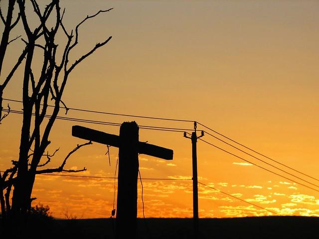 dawn over the electric crucifix