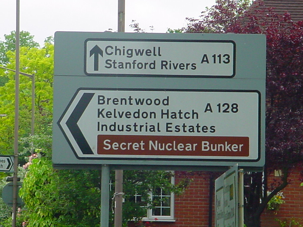 Secret Nuclear Bunker | Like the sign says, they like to kee… | Flickr
