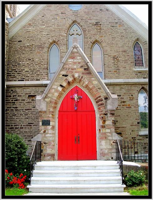 Brockport NY ~ St. Luke's Episcopal Church ~ Entrance