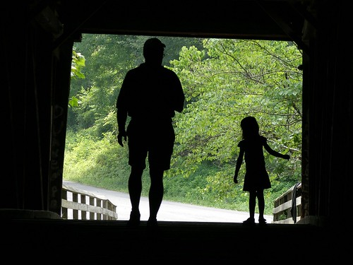 father and daughter in silhouette 1 | by theqspeaks