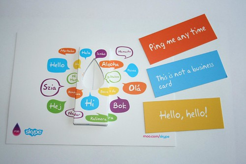 Skype minicards and holder | by andyp uk