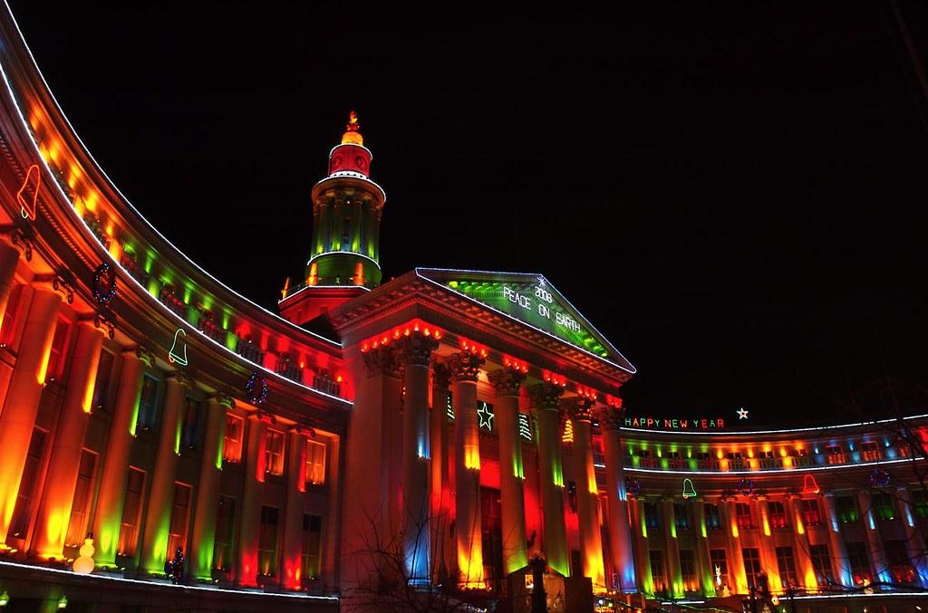 Christmas In Denver Colorado.Merry Christmas From Denver Colorado Christmas Lights On