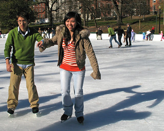 Ice skating on Boston's Frog Pond | by Paul Keleher