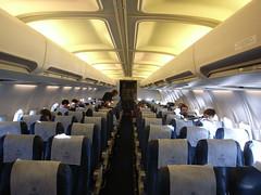 near-empty plane