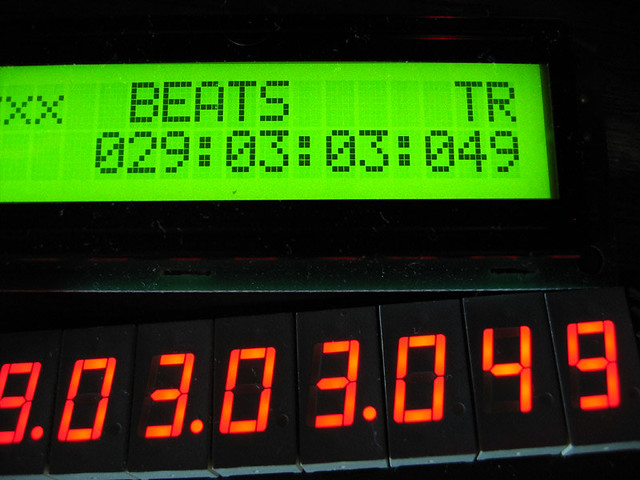 LCD & LED MIDI timecode/BBT displays in tandem | The beats a