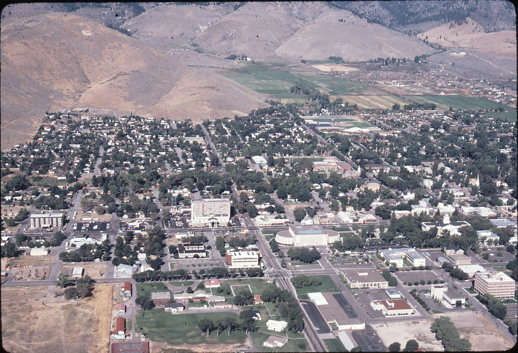 Above Downtown Carson City 1981 Around Carson