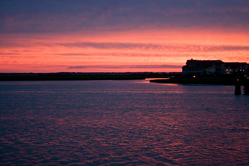 ocean sunset vacation house silhouette bay nj shore stoneharbor jerseyshore