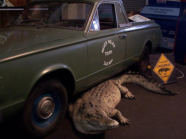 Croc Dundee car