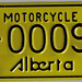ALBERTA MOTORCYCLE License plates