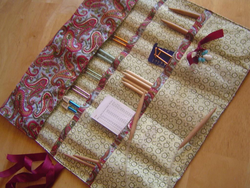 Knitting Needle Case *Tutorial on my blog!*   Knitting ...