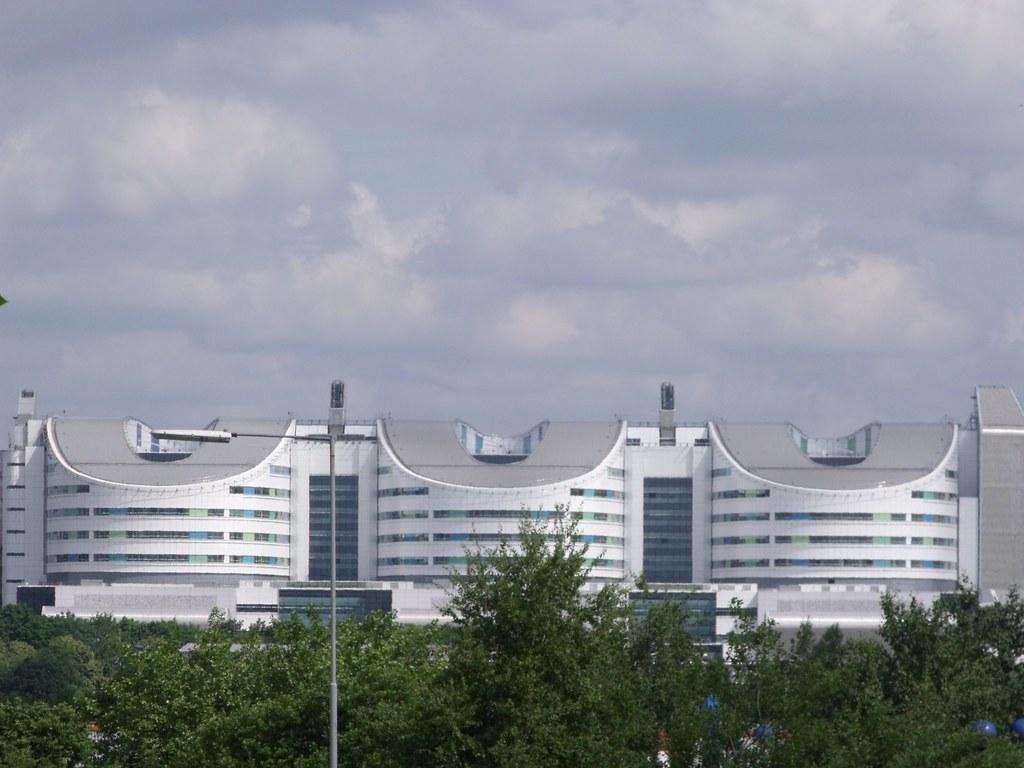 Queen Elizabeth Hospital Birmingham from Selly Oak Triangle
