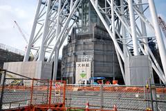 Bottom of Tokyo Sky Tree in Semtember 2010