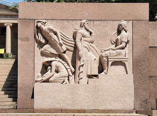 "Maia, Asclepias, Hermes & Vesta In John Gregory's 1941 ""Urban Life"" Granite Bas Relief At The Municipal Center (Washington, DC) 