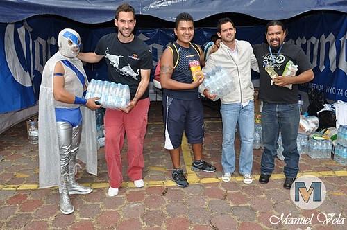 DSC_0728 Puebla FC y su gran afición se sumaron a la colecta de víveres en ayuda de los damnificados de Veracruz por LAE Manuel Vela
