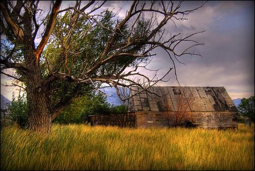 old sunset summer house abandoned nature clouds barn landscape utah farm shed weathered hdr lehi diamondclassphotographer