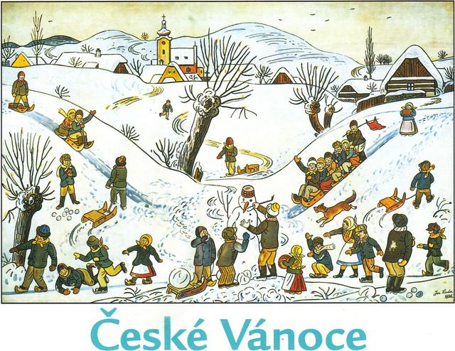 Czech Christmas Art Postcard