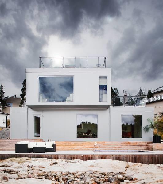 Lovely ... Design Inspiration: All White Scandinavian House Design With Views   By Design  Inspiration Gallery