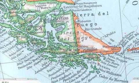 Mapa antiguo de Tierra del Fuego, Patagonia (old map of Ti… | Flickr
