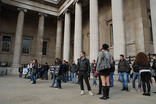 Protesting in front of the British Museum   by elginism