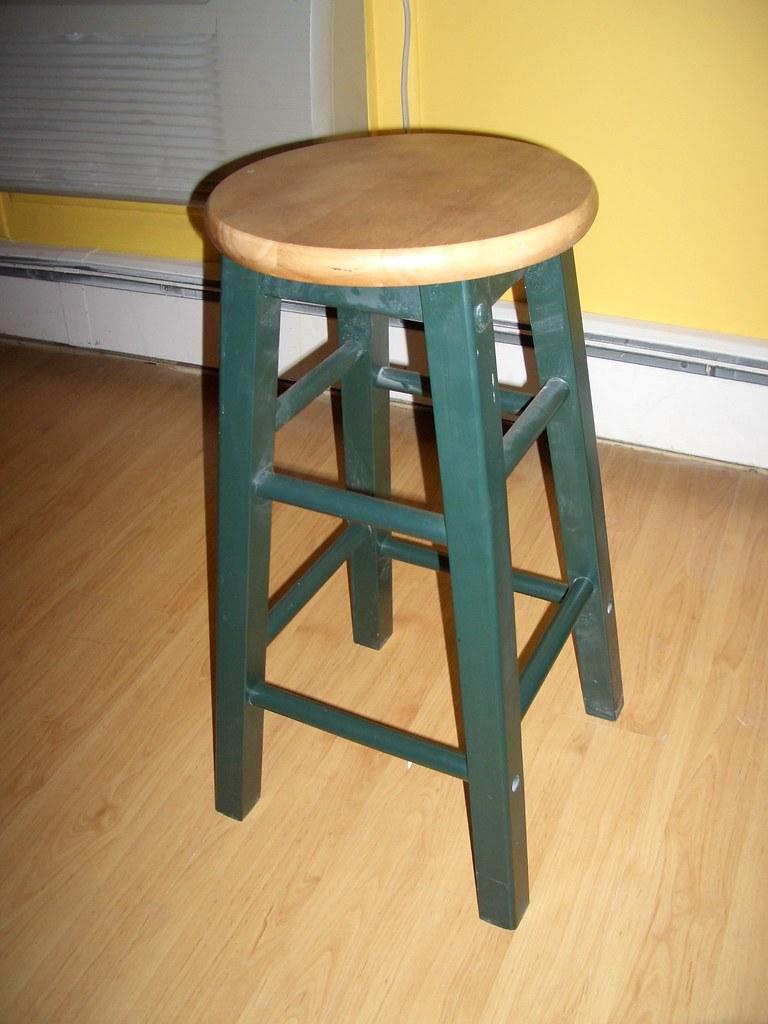 "2 24"" wooden stools"