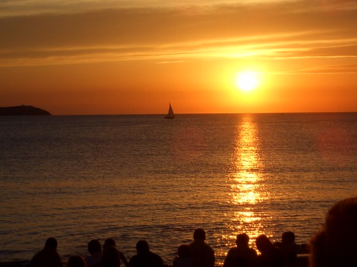 sunset, cafe del mar, ibiza | by Ben30