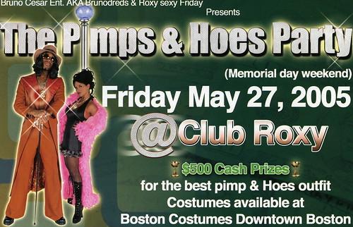roxy flier pimps & hoes party
