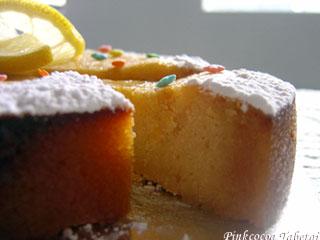 A slice of Old-Fashioned Lemon Tea Cake