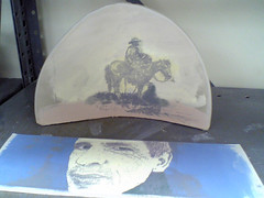 screenprinting on clay