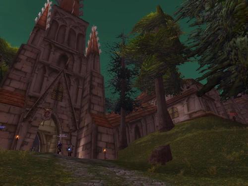 Das scharlachrote Kloster von aussen
