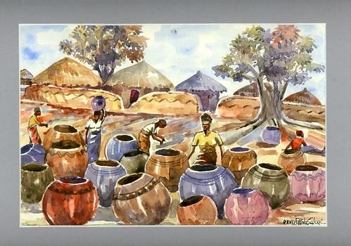effah-sakyi water bowls 1998