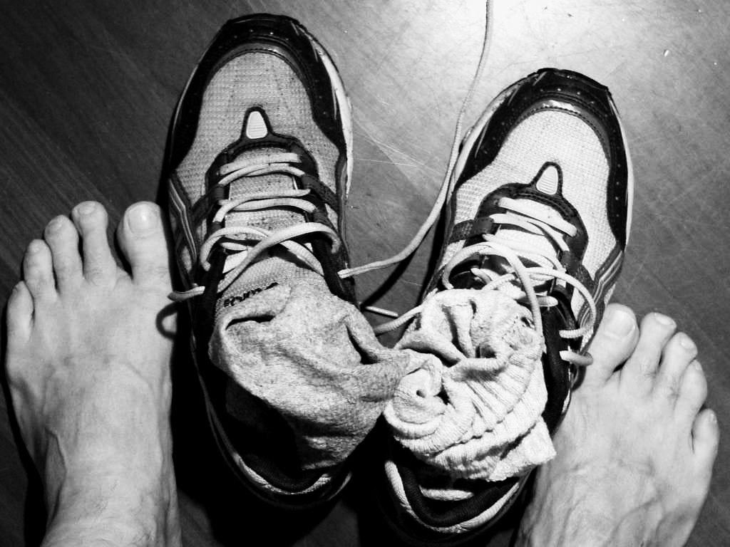 i piedi dopo la corsa