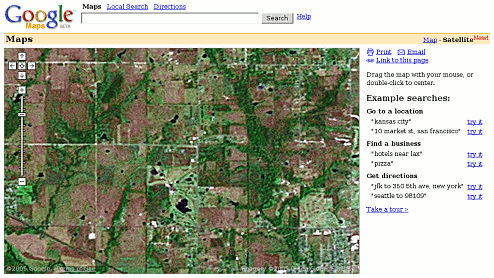 El centro del mundo para Google Maps está en Kansas
